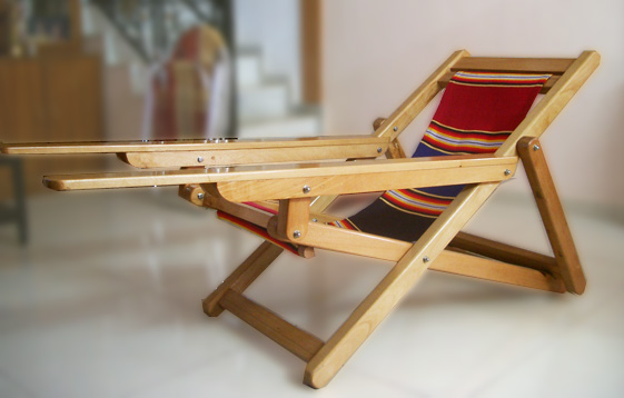 Wooden Recliner Lounge Chair